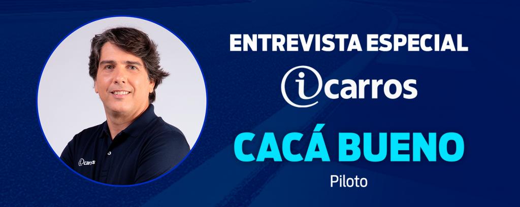 Entrevista especial iCarros com Cacá Bueno Logo do iCarros Foto Cacá + Piloto
