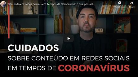 Conteúdo em redes sociais em tempos de coronavírus: o que postar?