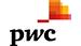 logo da pwc em caixa baixa com letras em preto e fundo branco. Em cima da letra w um símbolo laranja.