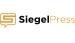 logo da SiegelPress. A palavra siegel em preto e negrito e Press em laranja. Na frente do S tem uma letra S com contorno laranja. Fundo branco.
