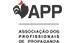 Logo da APP em caixa alta e letras pretas com um galo preto na frente da letra A. Também por extenso aparece o nome da empresa.