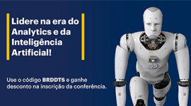 Banner: fundo azul com Robô