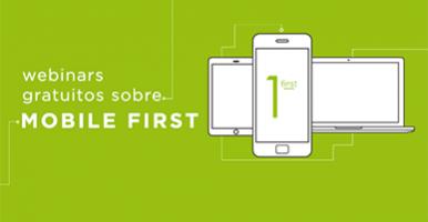 Banner: celular, tablet e monitor com fundo verde e informações sobre o webinar.