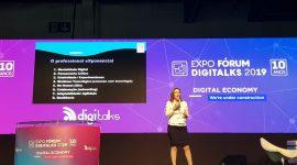 Martha Gabriel no Expo Fórum Digitalks revelando 8 habilidades para as profissões do futuro