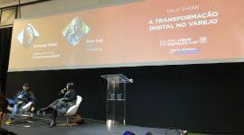 Foto: talk show sobre transformação digital no varejo.