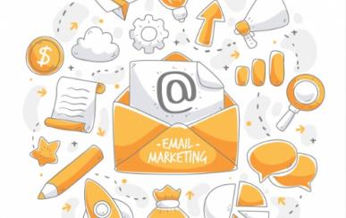 Imagem: carta com um @ representando um email marketing.